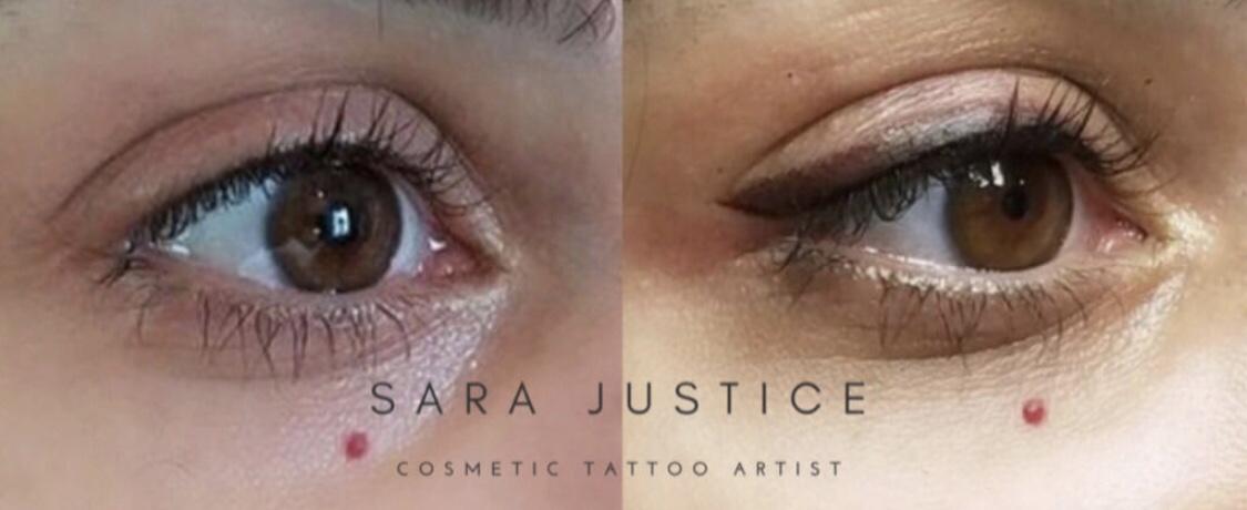 Eyeliner tattoo black and white best eyeliner for beauty for Skone tattooed eyeliner